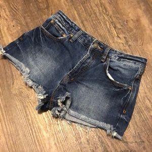 Free People Cutoff Jean Shorts